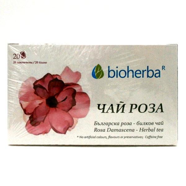 Чай от Роза Дамасцена 20 филтъра | Bioherba
