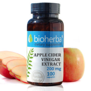 Ябълков оцет екстракт 200мг. 100 капсули | Bioherba