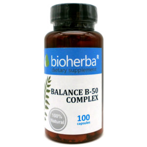 БИОХЕРБА БАЛАНС Б 50 КОМПЛЕКС КАПСУЛИ * 100 (BIOHERBA BALANCE B 50 COMPLEX) | Цена и Информация