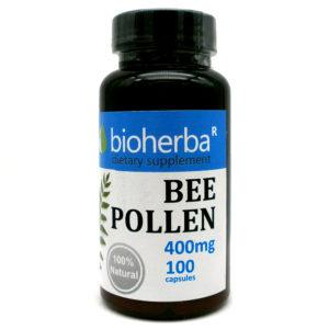 ПЧЕЛЕН ПРАШЕЦ БИОХЕРБА КАПСУЛИ*100 400МГ. (BIOHERBA BEE POLLEN)